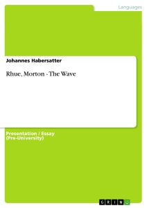 the wave morton rhue essay Practise essay on change in the novel the wave by morton rhue we see change occur in this novel when a classroom experiment designed to show students how.