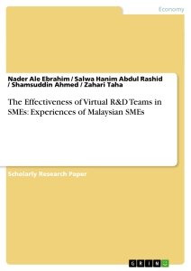 Titel: The Effectiveness of Virtual R&D Teams in SMEs: Experiences of Malaysian SMEs ()