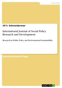 Title: International Journal of Social Policy Research and Development