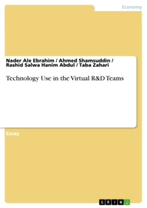 Titel: Technology Use in the Virtual R&D Teams ()