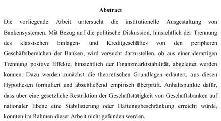 Cv dissertation abstract