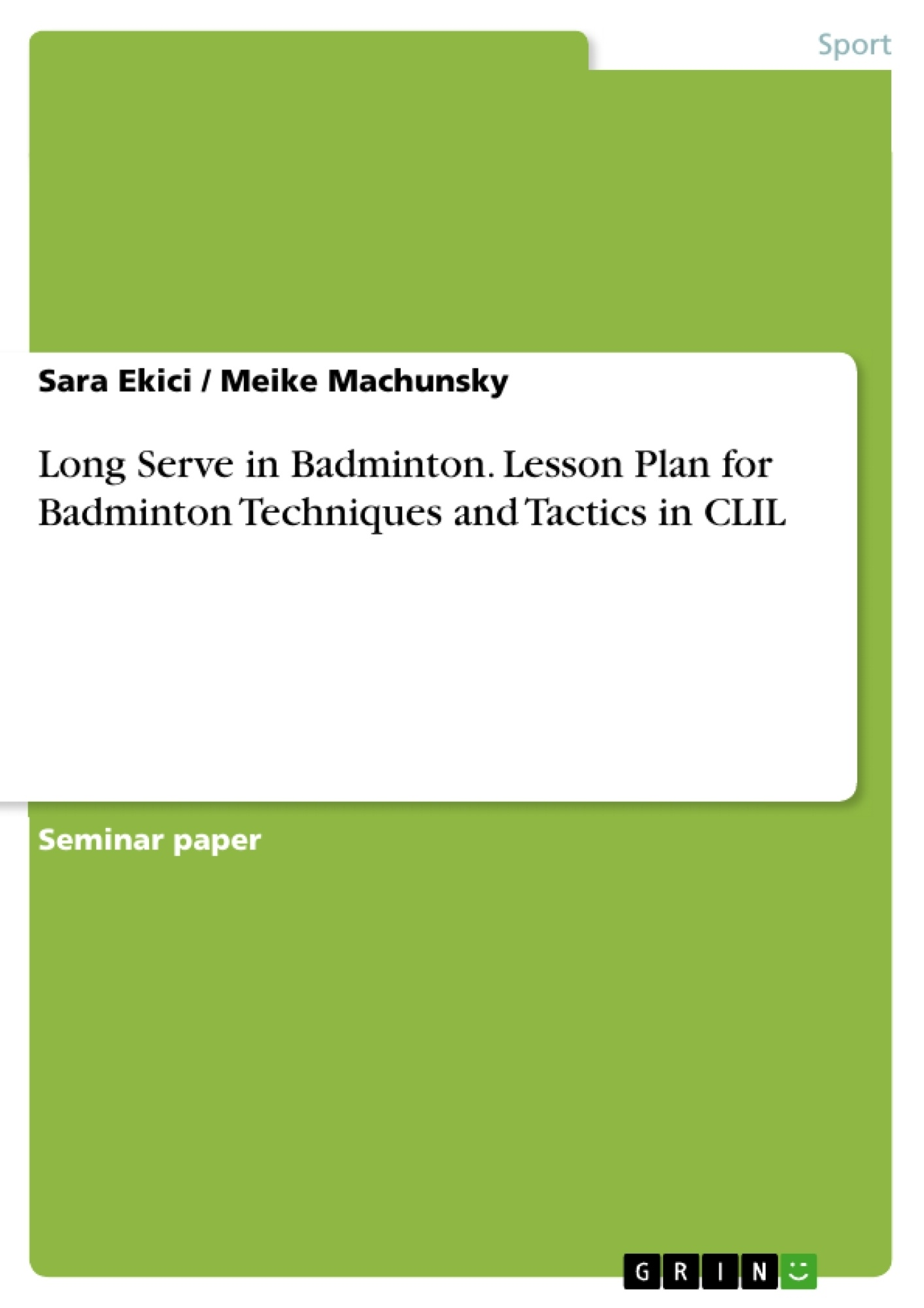 term paper in badminton