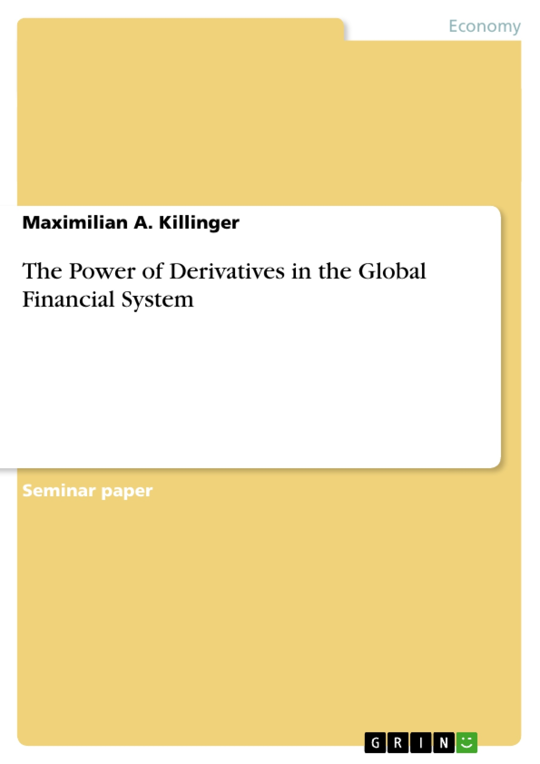 master thesis derivatives This thesis evaluates the derivatives introduced by imarex as financial instruments for risk management in the volatile industry of international shipping the main focus is on evaluating the imarex  master thesis – the norwegian school of economics and business adminstration 3.