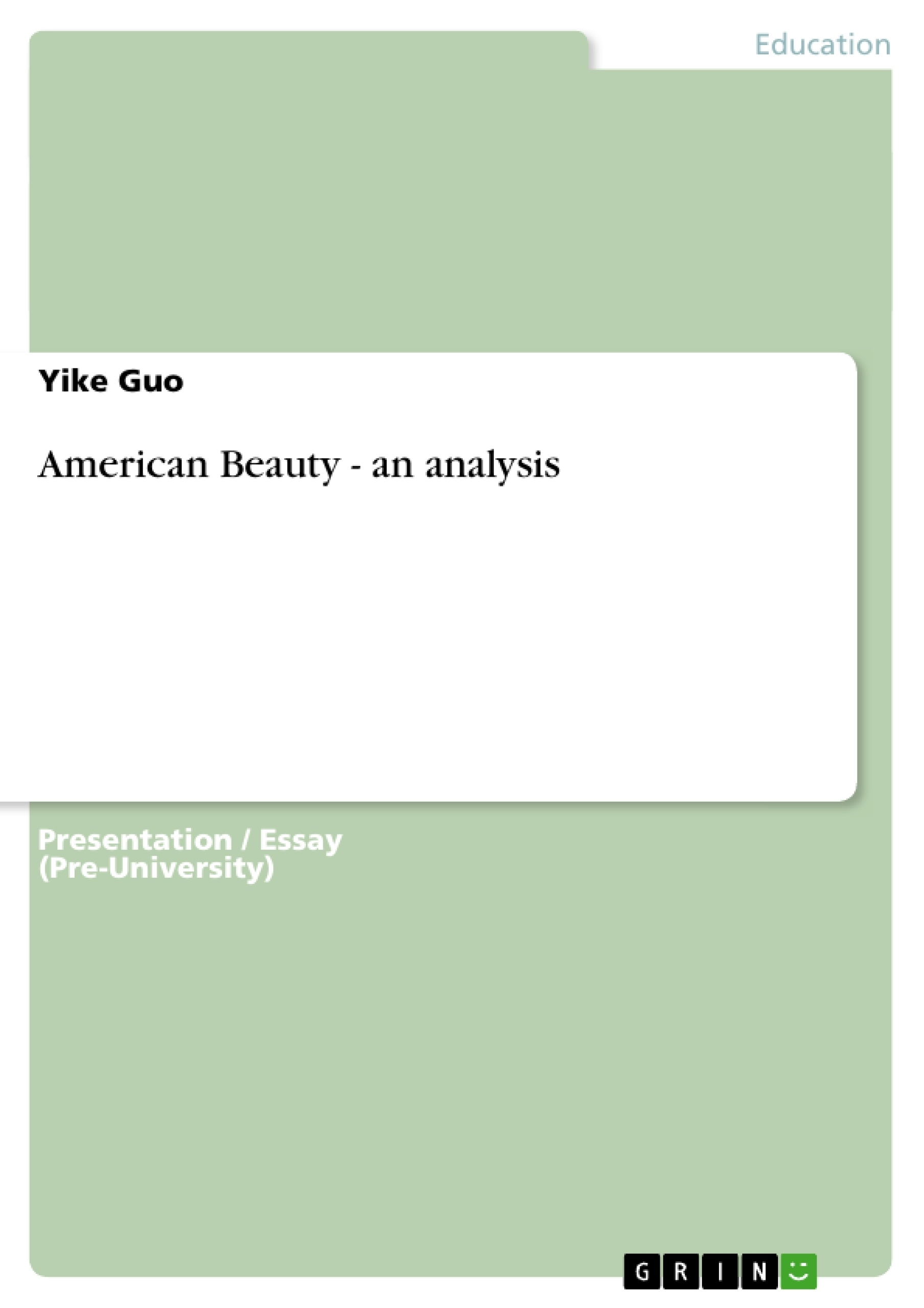 american beauty an analysis publish your master s thesis  upload your own papers earn money and win an iphone x