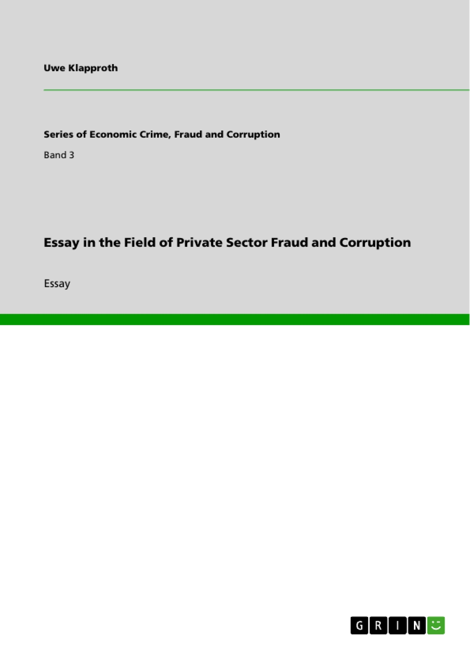 research propoasal on corruption and fraud