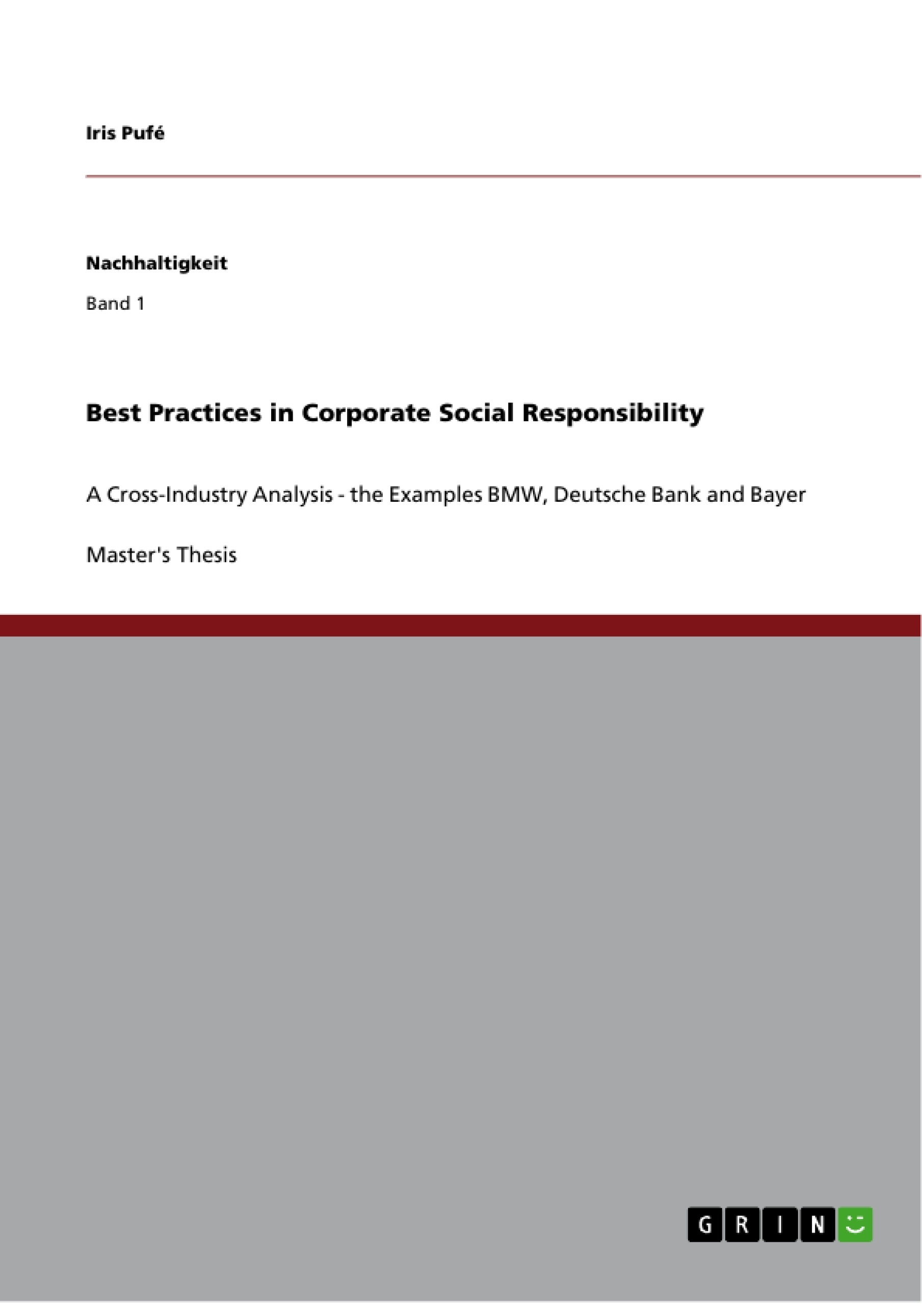 best practices in corporate social responsibility publish your  best practices in corporate social responsibility publish your master s thesis bachelor s thesis essay or term paper