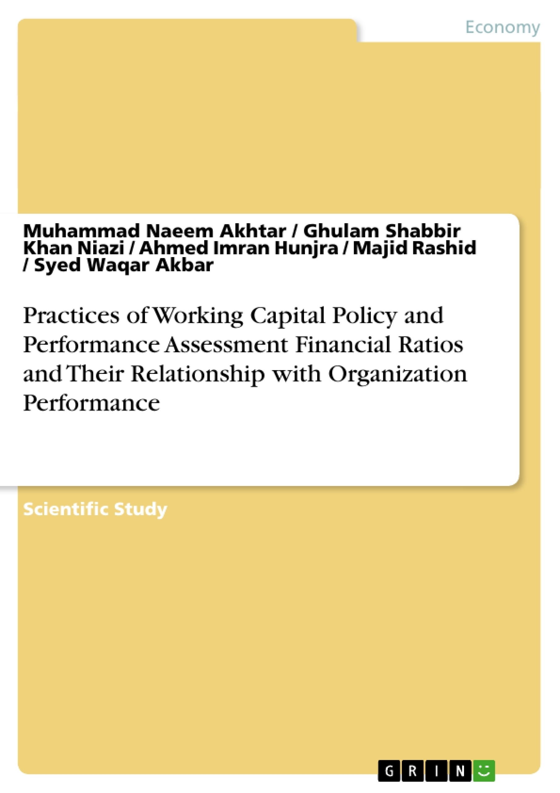 review of literature for working capital management