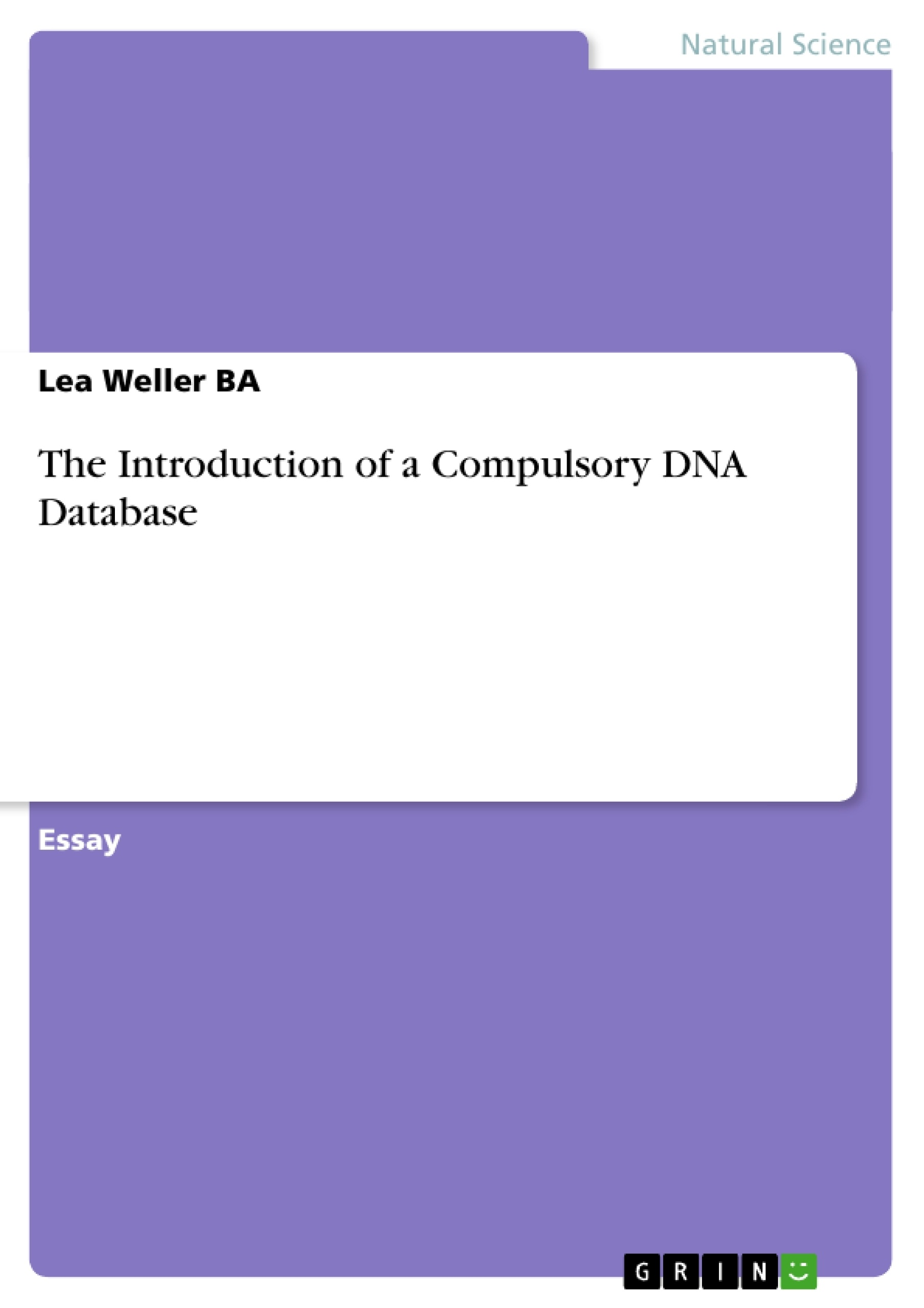 the introduction of a compulsory dna database publish your  upload your own papers earn money and win an iphone x