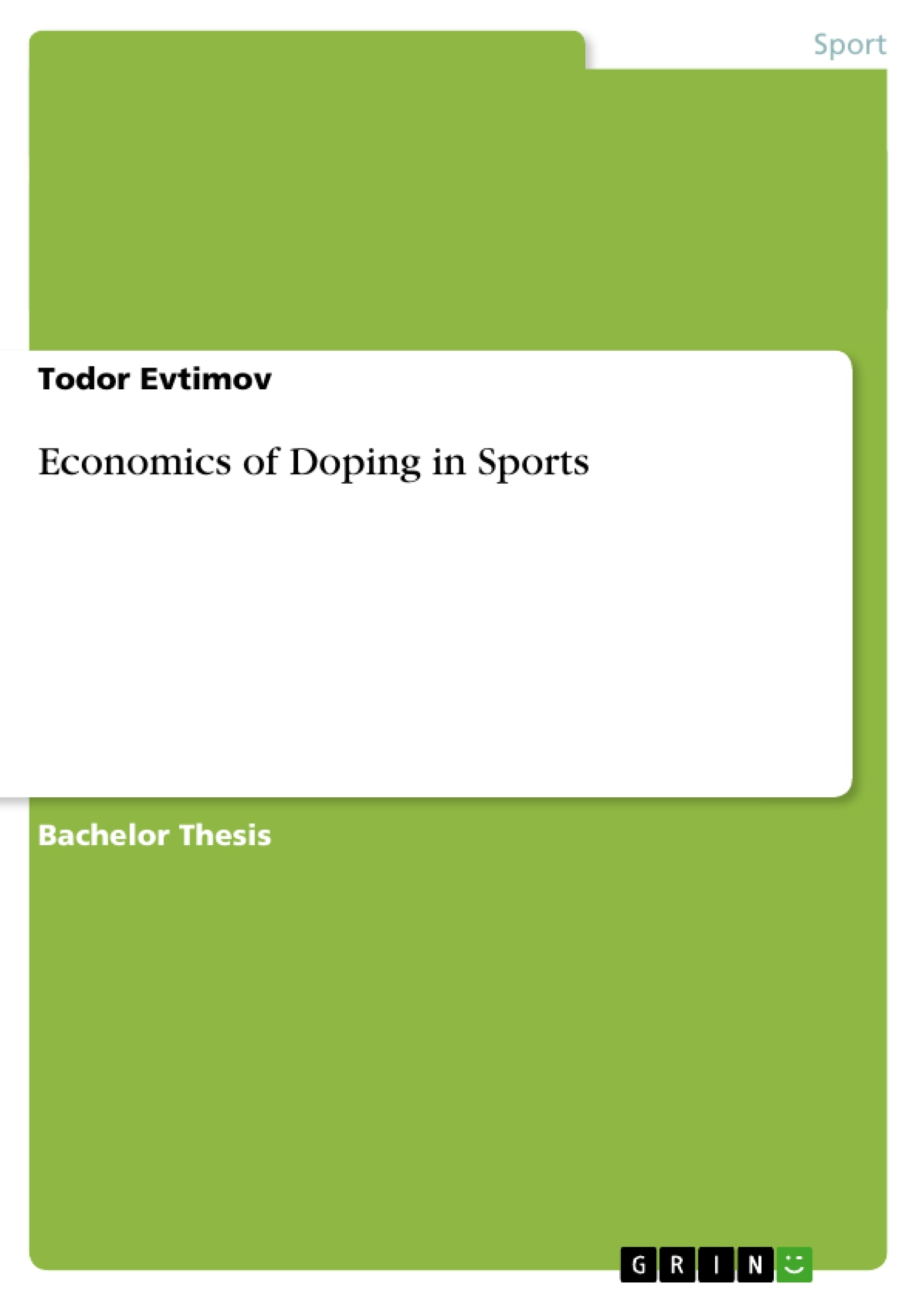 economics of doping in sports publish your master s thesis  upload your own papers earn money and win an iphone x