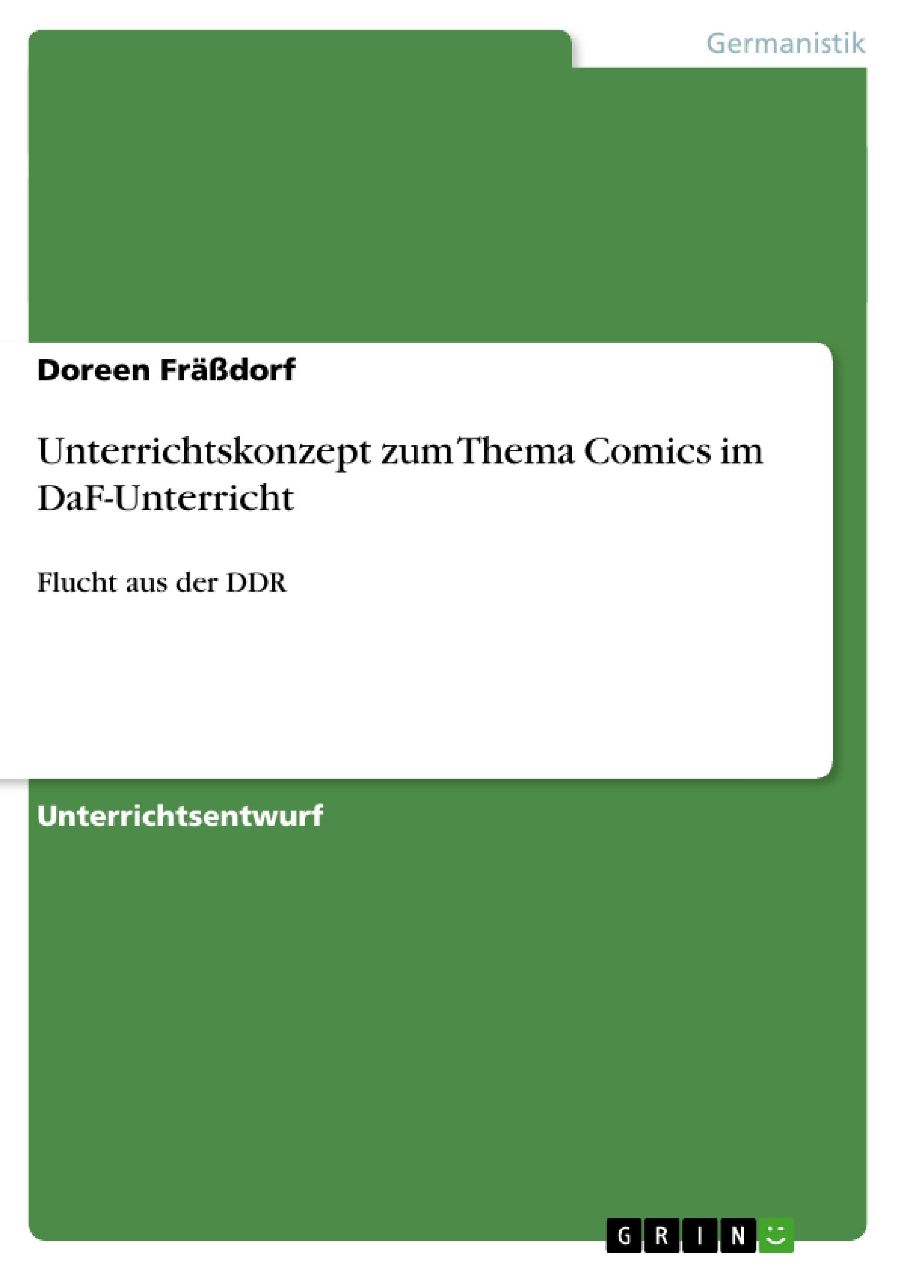 Unterrichtskonzept zum Thema Comics im DaF-Unterricht | Masterarbeit ...