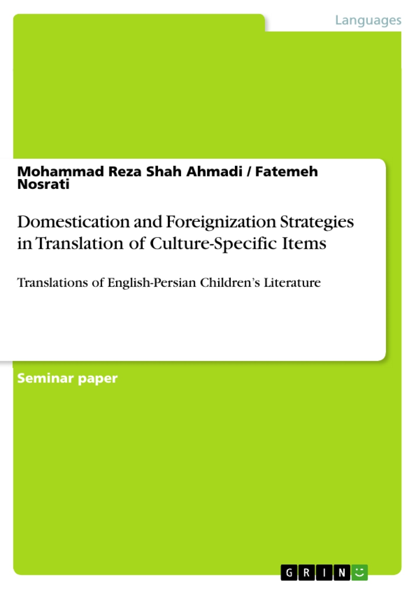 domestication and foreignization in translation essay Free sample term paper on the analysis of the poem, o tell me the truth about love from the point of domestication method.