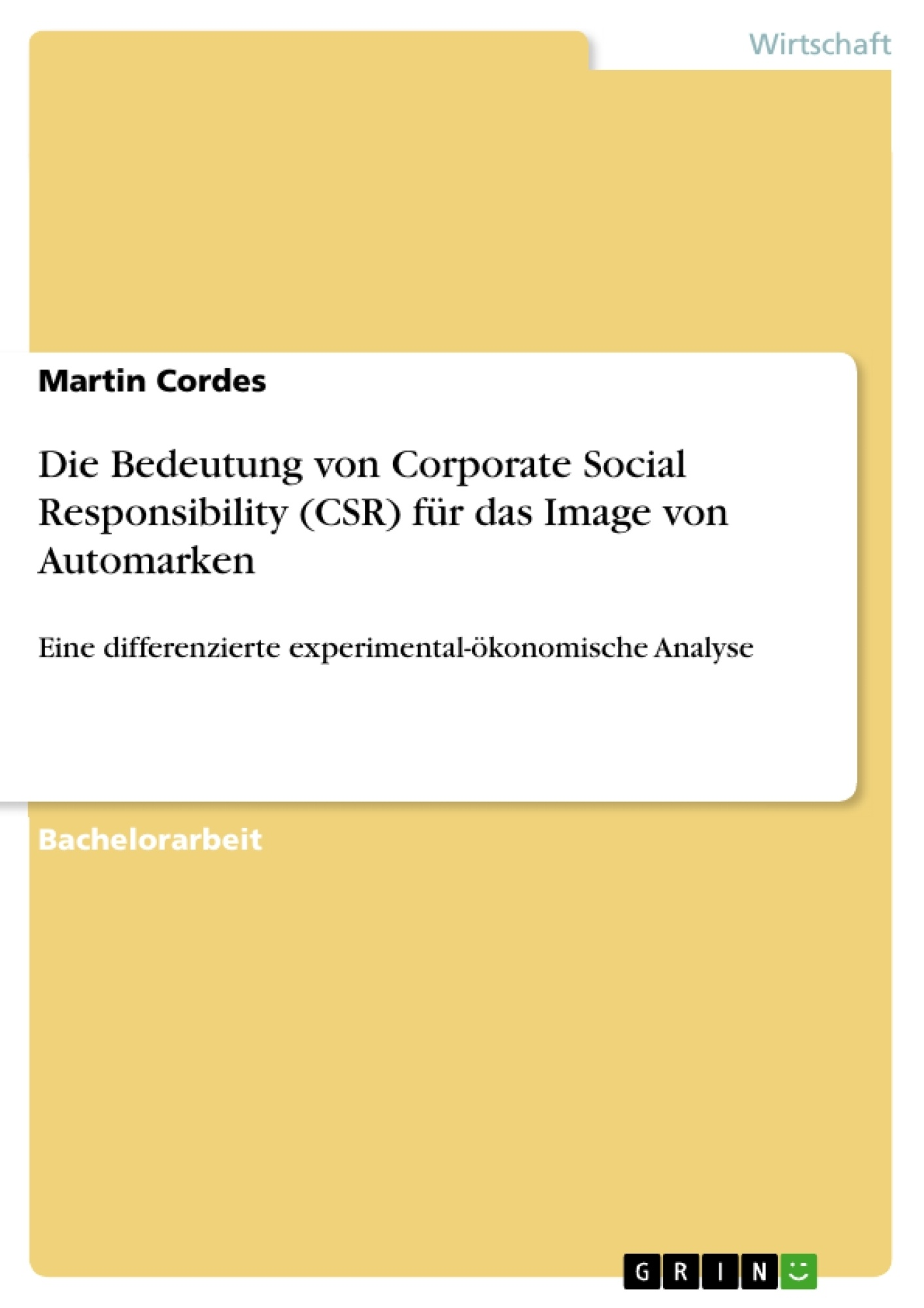 Die Bedeutung von Corporate Social Responsibility (CSR) für das ...