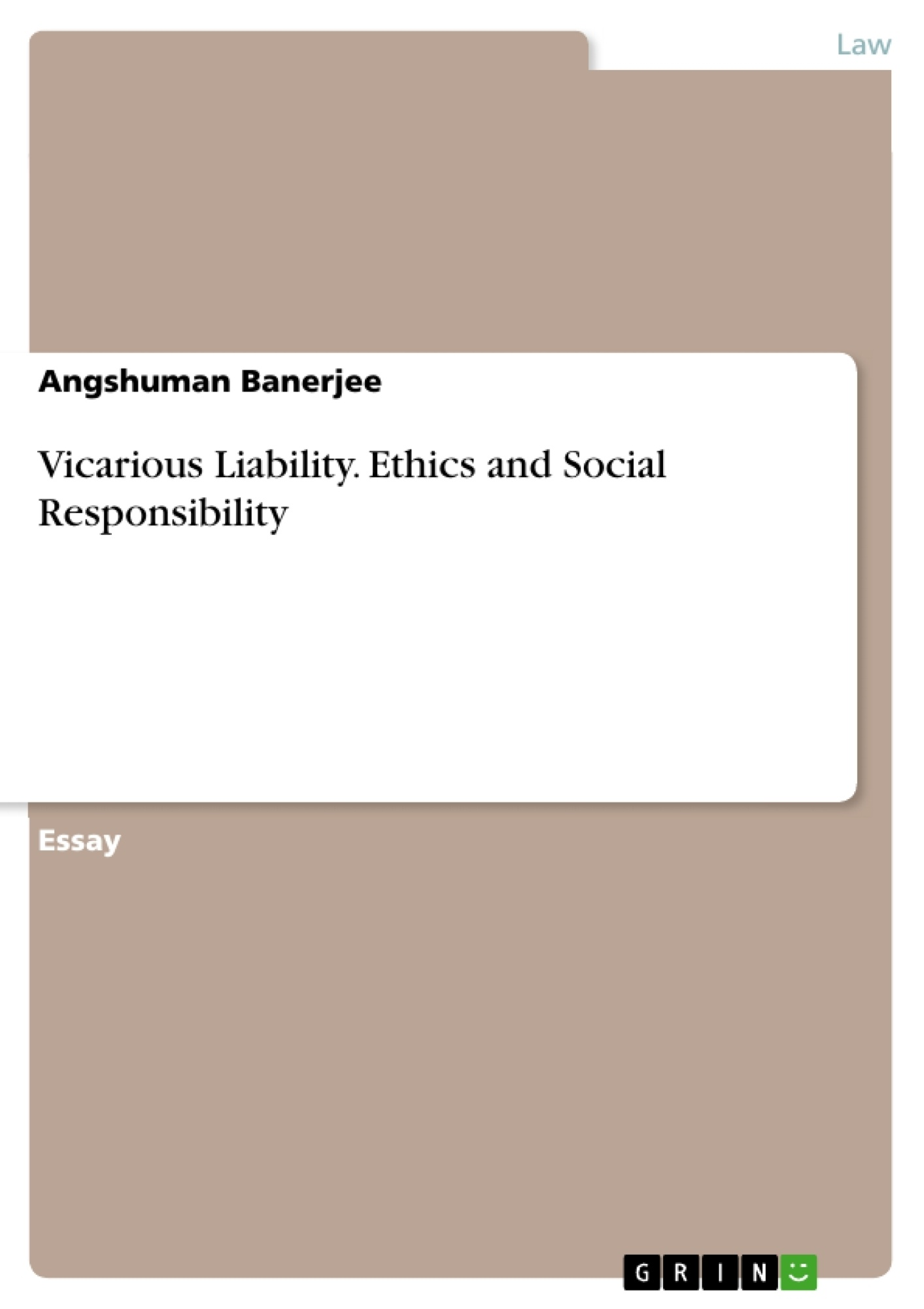 vicarious liability ethics and social responsibility publish  upload your own papers earn money and win an iphone x