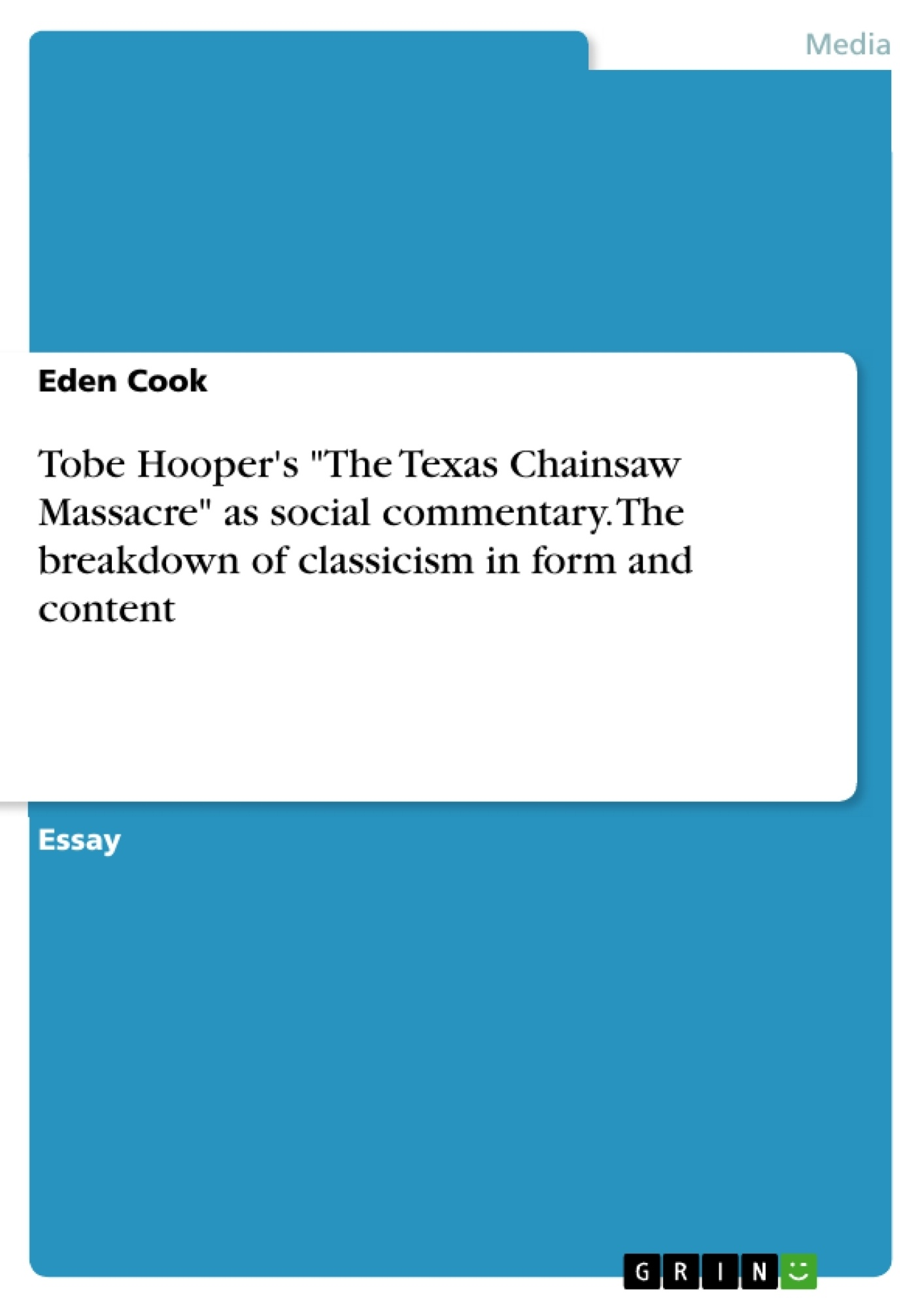 tobe hooper s the texas chainsaw massacre as social commentary  upload your own papers earn money and win an iphone x
