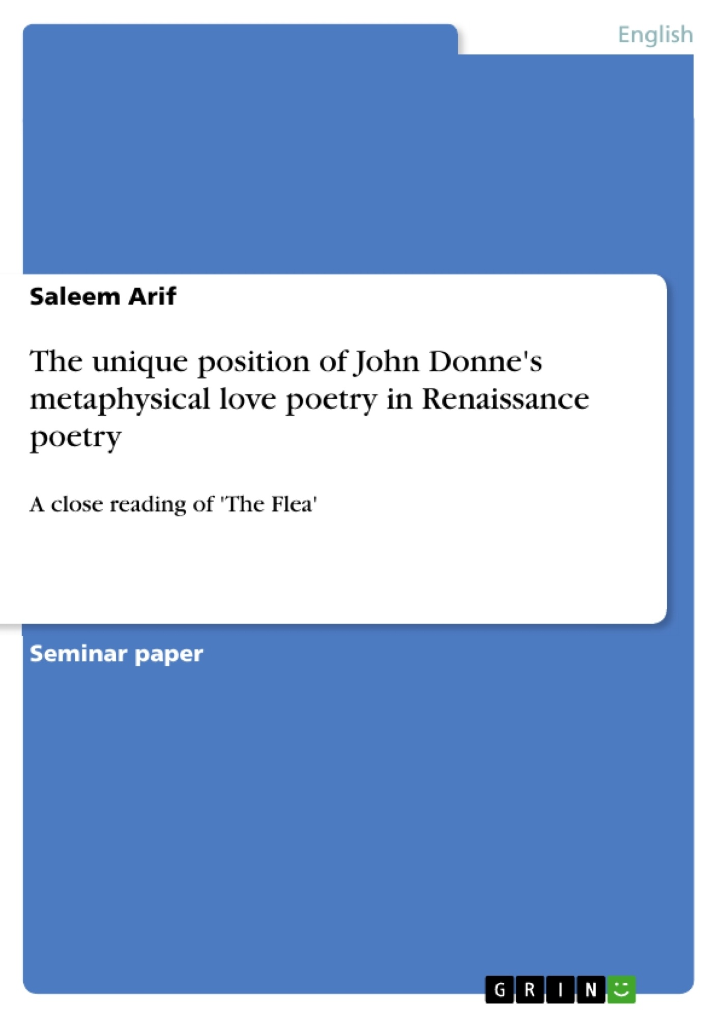 the unique position of john donne s metaphysical love poetry in  upload your own papers earn money and win an iphone x