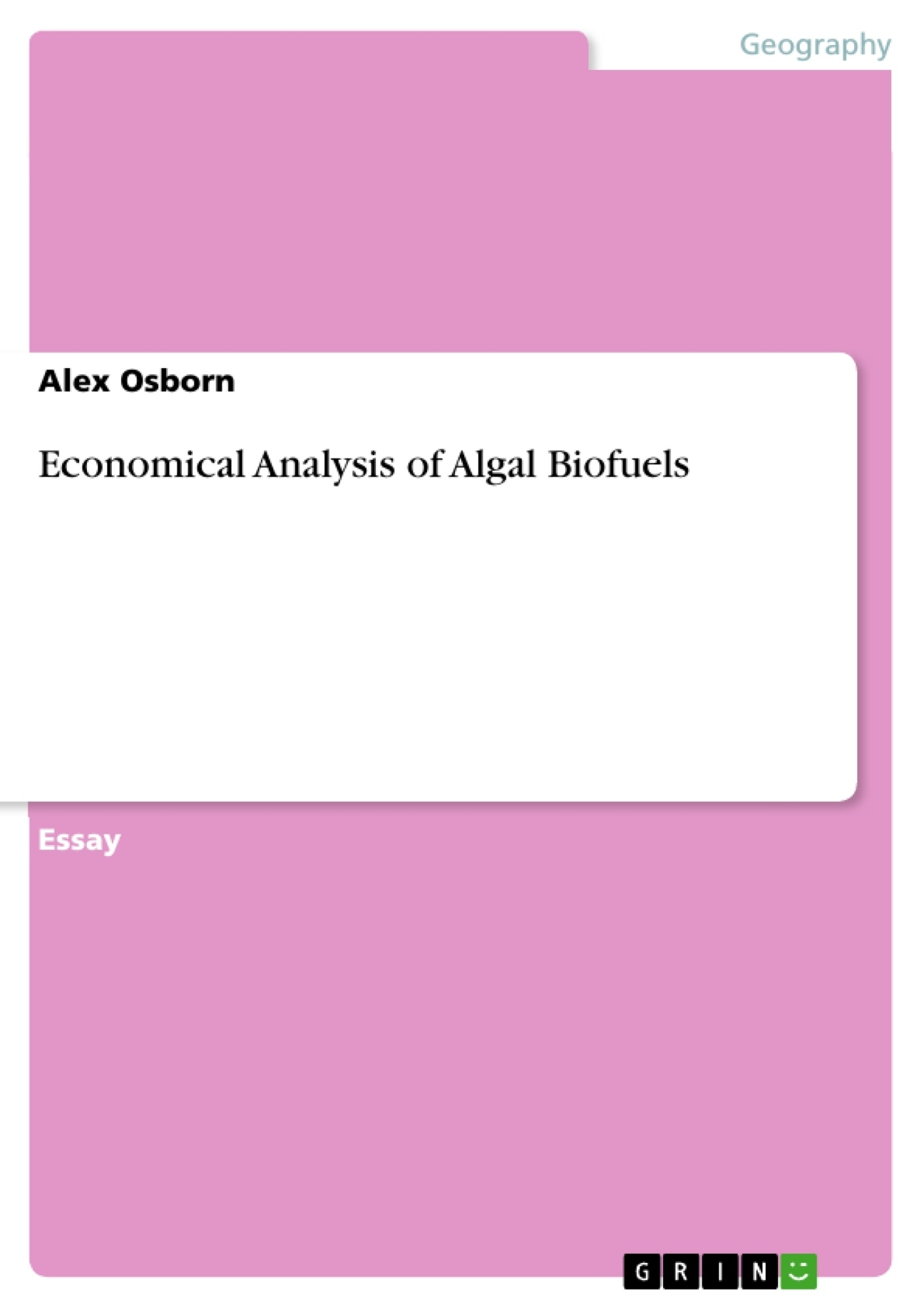 economical analysis of algal biofuels publish your master s  upload your own papers earn money and win an iphone x