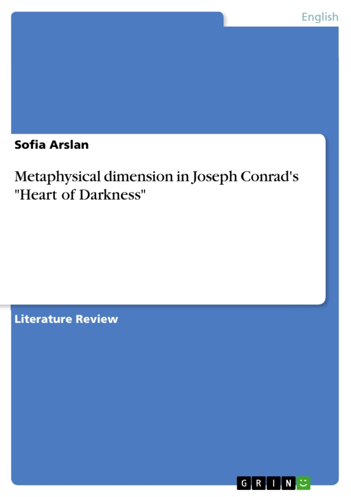 Metaphysical dimension in joseph conrads heart of darkness upload your own papers earn money and win an iphone x biocorpaavc