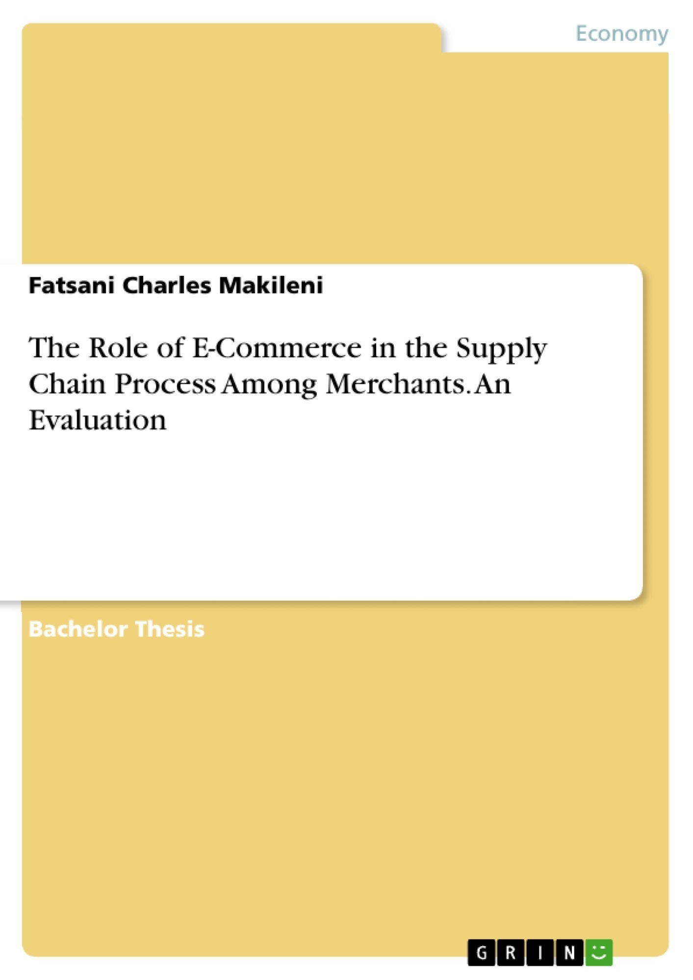 The role of e commerce in the supply chain process among merchants the role of e commerce in the supply chain process among merchants publish your masters thesis bachelors thesis essay or term paper fandeluxe Gallery