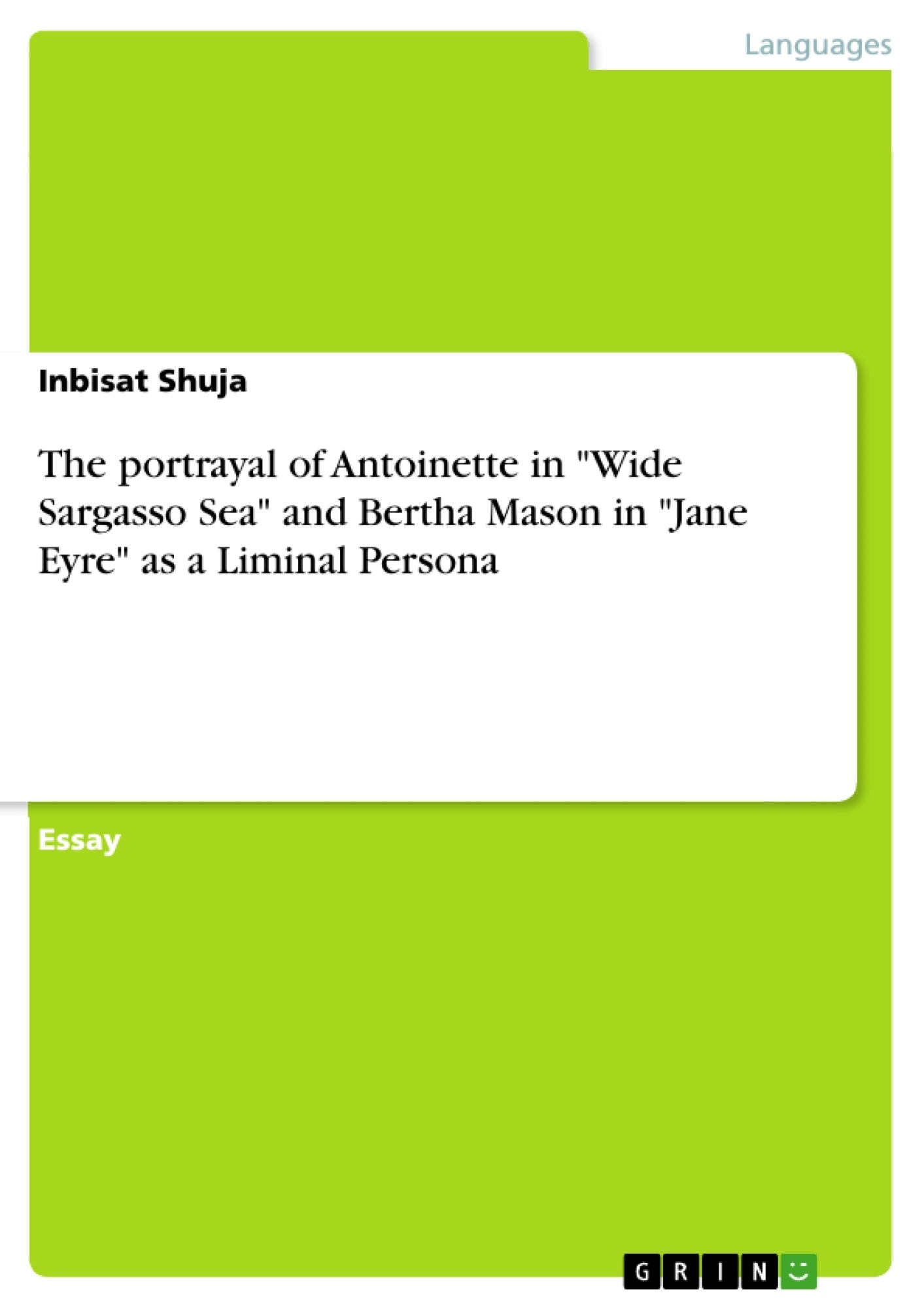 the portrayal of antoinette in wide sargasso sea and bertha  upload your own papers earn money and win an iphone x