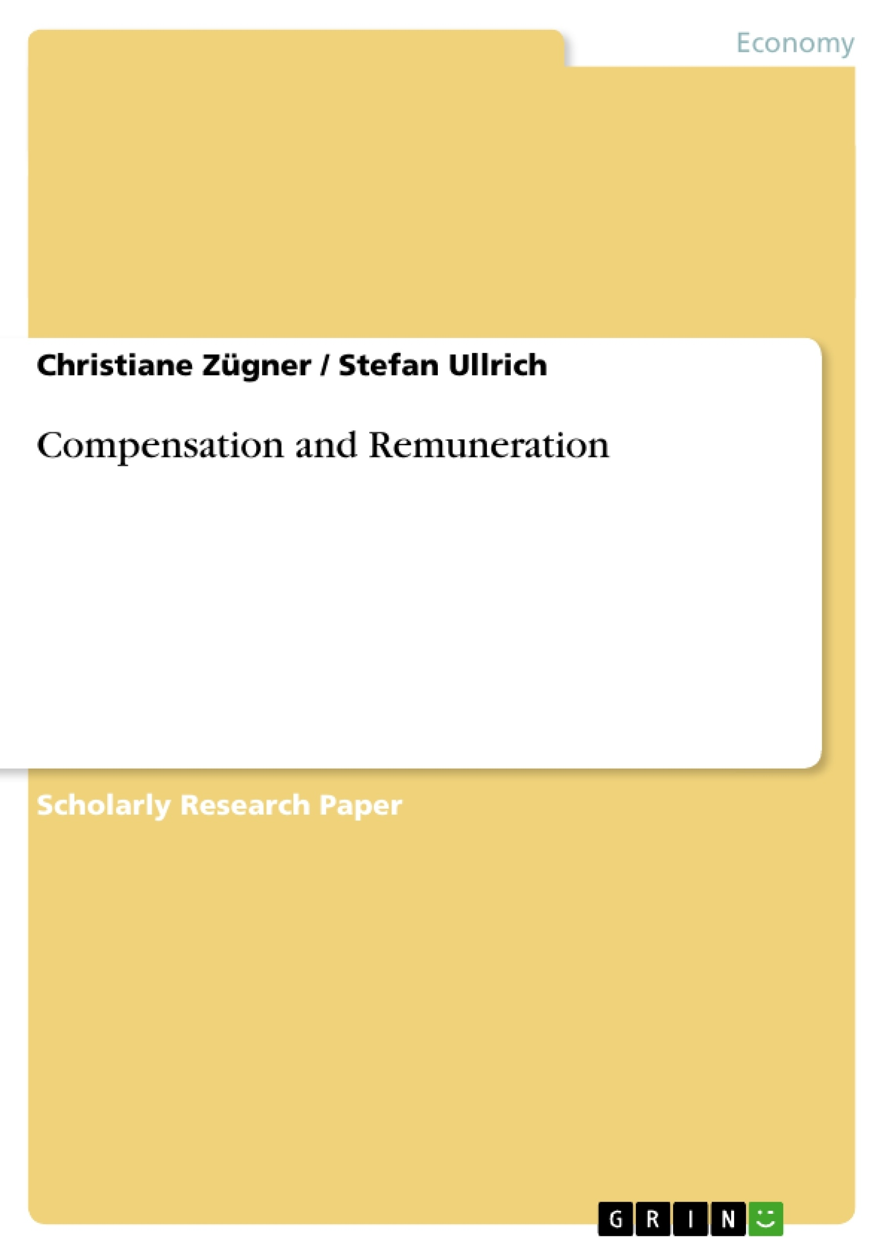 Research papers compensation management