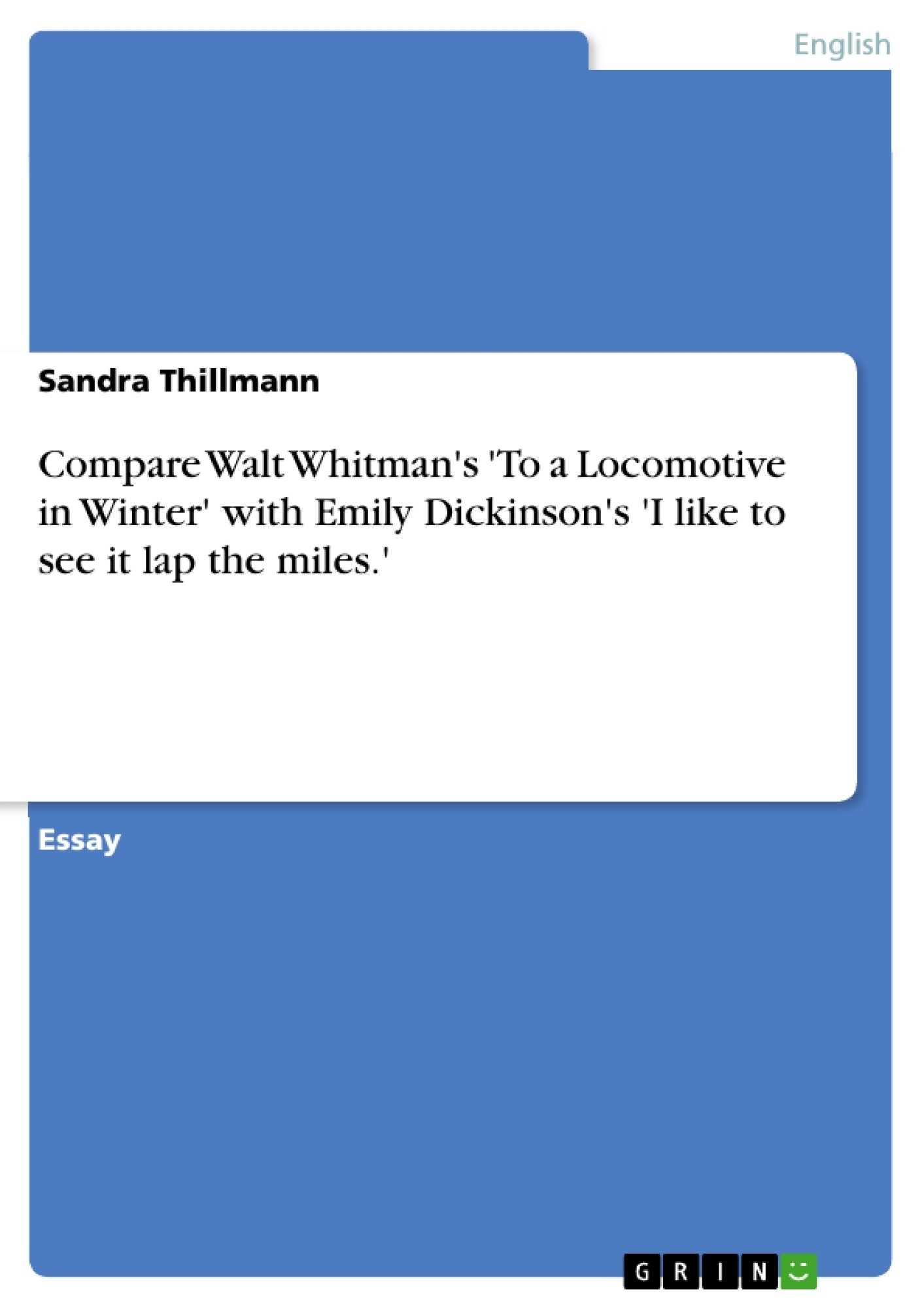 compare walt whitman s to a locomotive in winter emily  upload your own papers earn money and win an iphone x