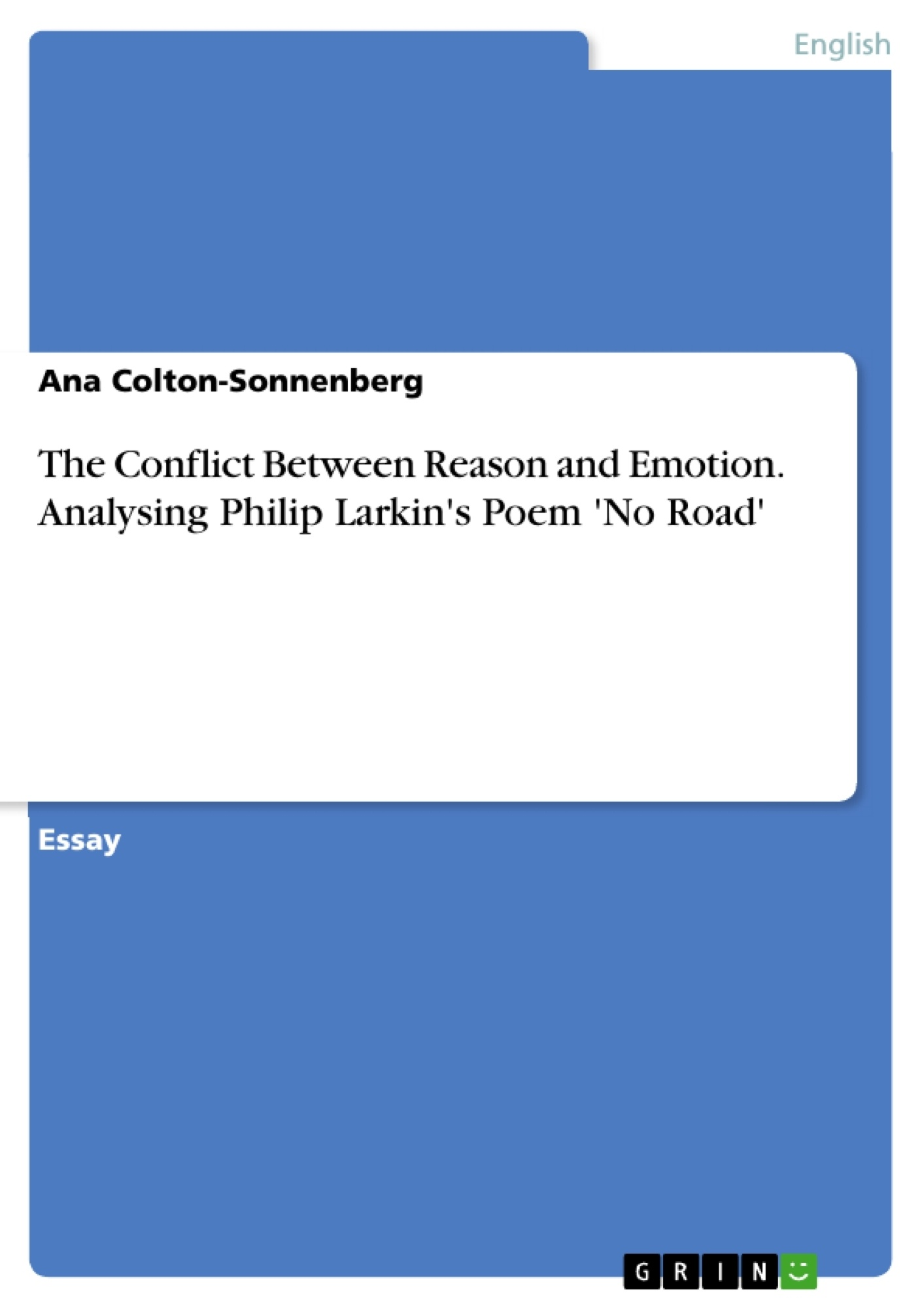 the conflict between reason and emotion analysing philip larkin s  upload your own papers earn money and win an iphone x
