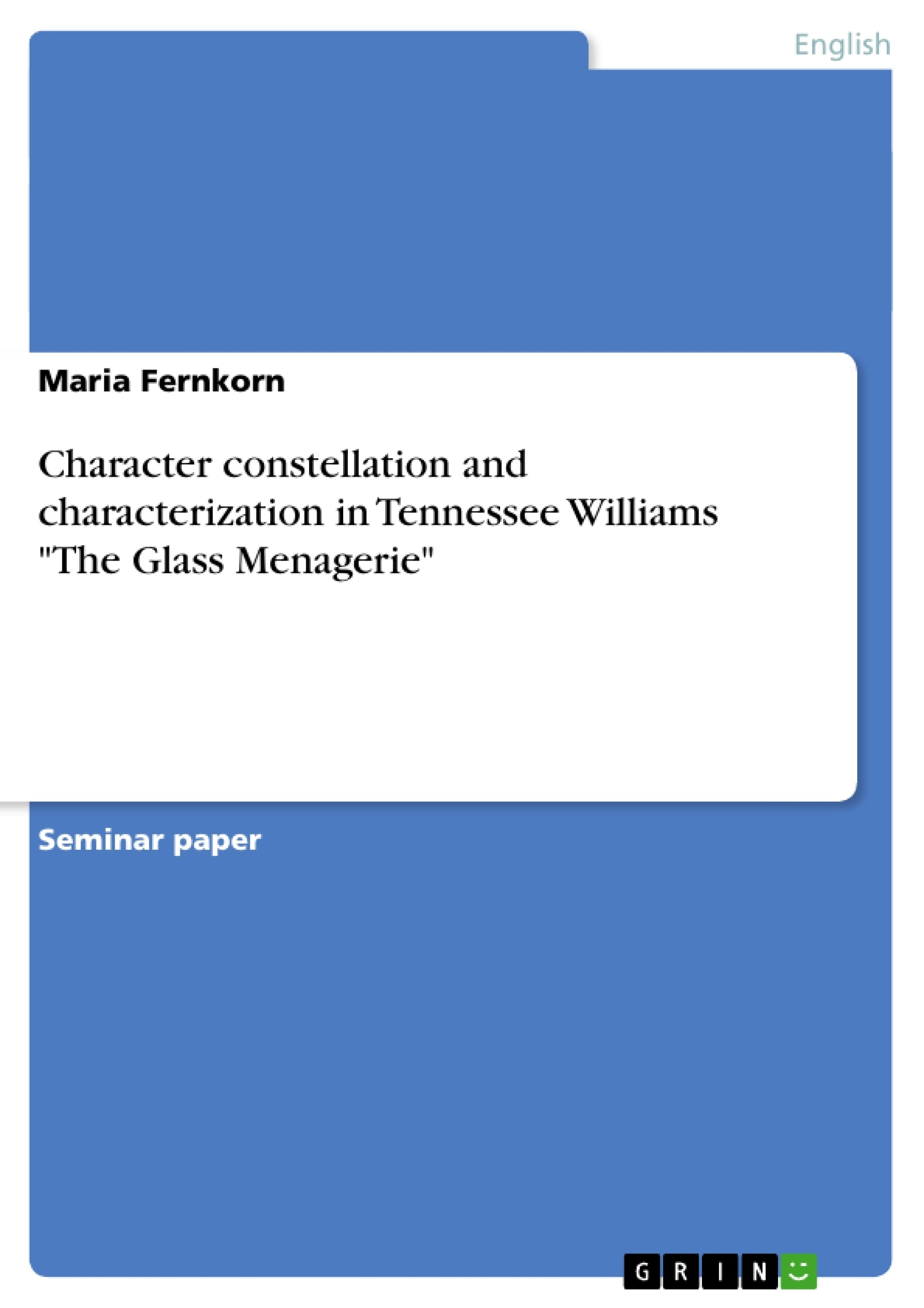 character constellation and characterization in tennessee williams  upload your own papers earn money and win an iphone x