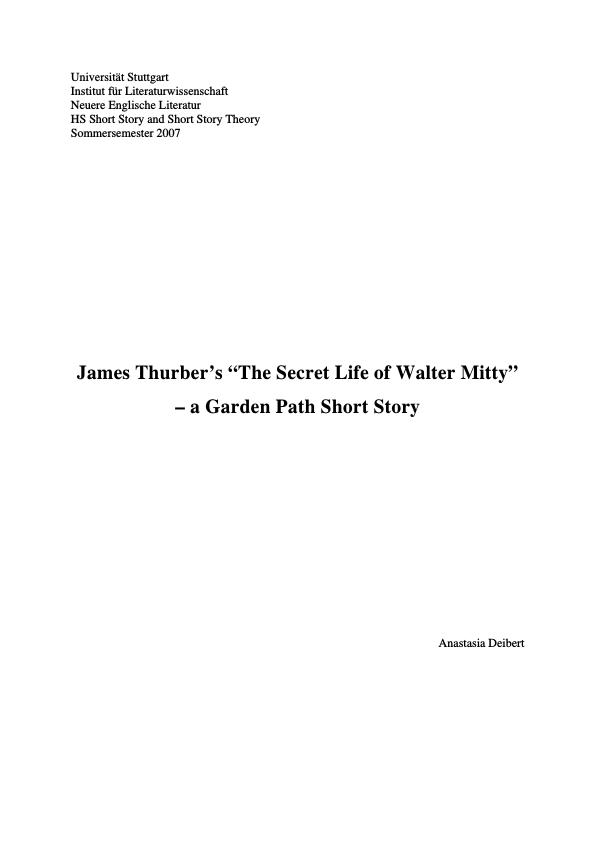 "james thurber s ""the secret life of walter mitty"" publish your  upload your own papers earn money and win an iphone x"