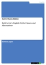Title: Beth Levin's English Verbs Classes and Alternations