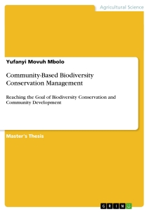 community based biodiversity conservation management publish  community based biodiversity conservation management