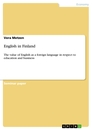 Title: English in Finland