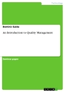 Title: An Introduction to Quality Management