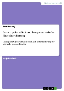 Titel: Branch point effect und kompensatorische Phosphorylierung