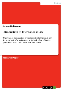 introduction to international law publish your master s thesis  title introduction to international law