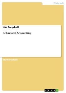 Titel: Behavioral Accounting