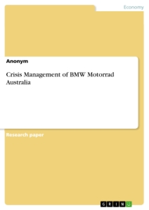 crisis management of bmw motorrad publish your  title crisis management of bmw motorrad