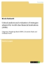 Title: Critical analysis and evaluation of strategies adopted by world class financial institutions (2006)