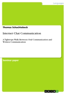 Title: Internet Chat Communication