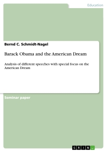 Barack Obama And The American Dream  Publish Your Masters Thesis  Title Barack Obama And The American Dream