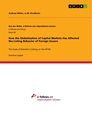 Title: How the Globalization of Capital Markets Has Affected the Listing Behavior of Foreign Issuers