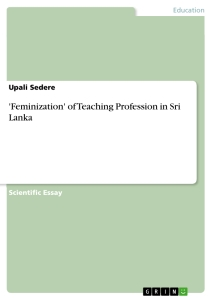 feminization of teaching profession in sri lanka publish your   feminization of teaching profession in sri lanka scientific essay