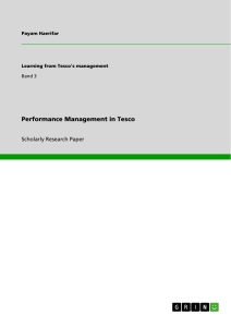 performance management in tesco publish your master s thesis  performance management in tesco