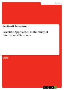 Master thesis on international relations