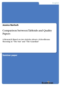 Title: Comparison between Tabloids and Quality Papers