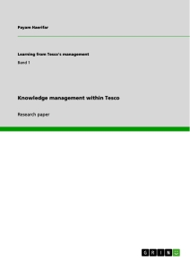 knowledge management in tesco publish your master s thesis  knowledge management in tesco