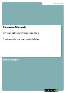 cross cultural team building publish your master s thesis  cross cultural team building
