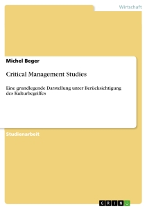 Titel: Critical Management Studies