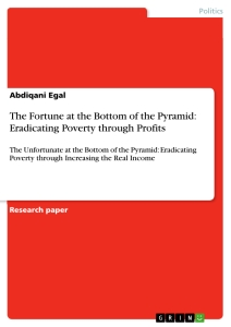 the fortune at the bottom of the pyramid eradicating poverty  the fortune at the bottom of the pyramid eradicating poverty through profits