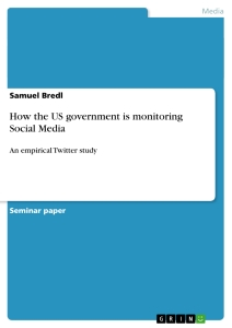 Title: How the US government is monitoring Social Media