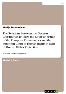 Title: The Relations between the German Constitutional Court, the Court of Justice of the European Communities and the European Court of Human Rights in light of Human Rights Protection